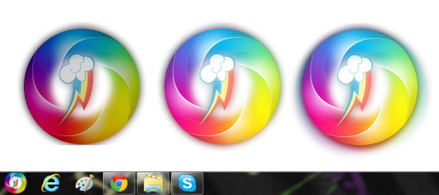 Windows xp start button png. Rainbow dash orb visual
