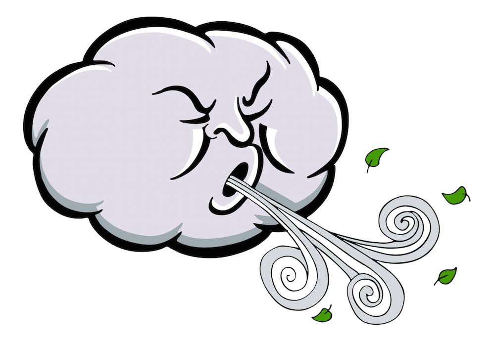 Woman blames day for. Windy clipart