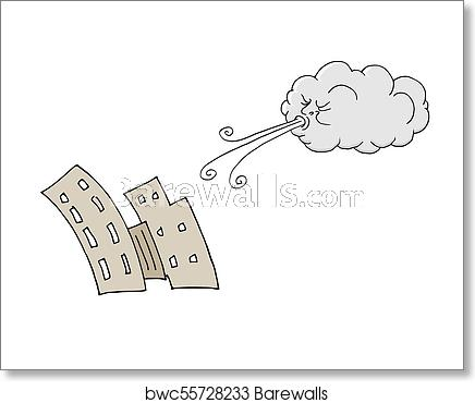 Day buildings and cloud. Windy clipart angry wind