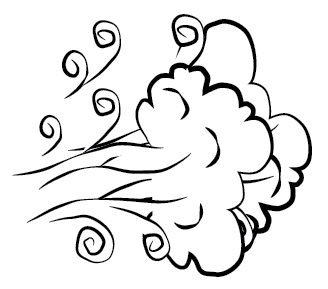 Windy clipart black and white. Weather wikiclipart