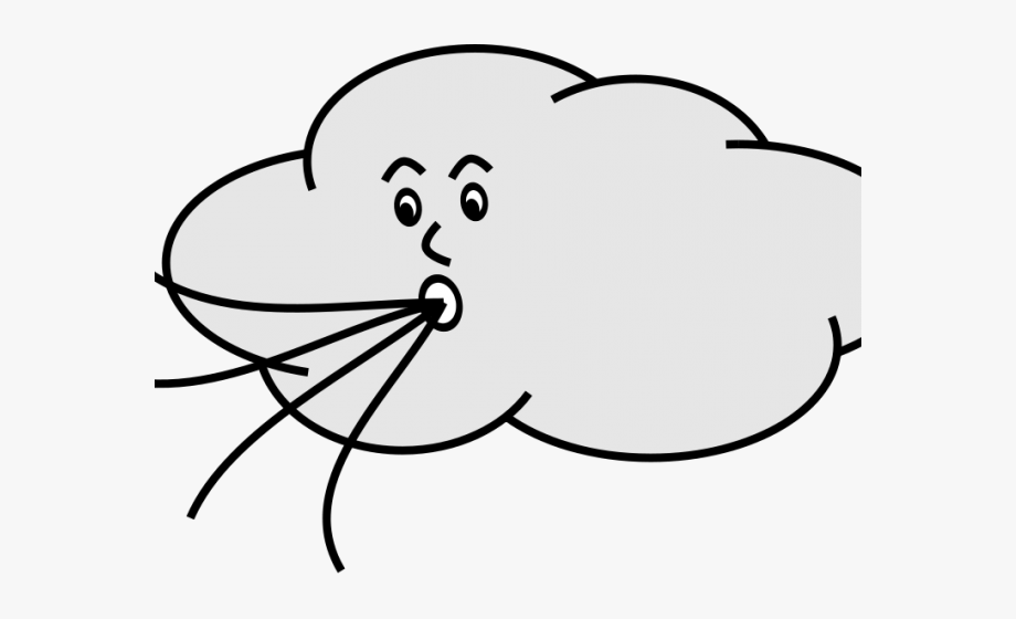 Windy clipart cartoon. Hurricane strong wind blowing