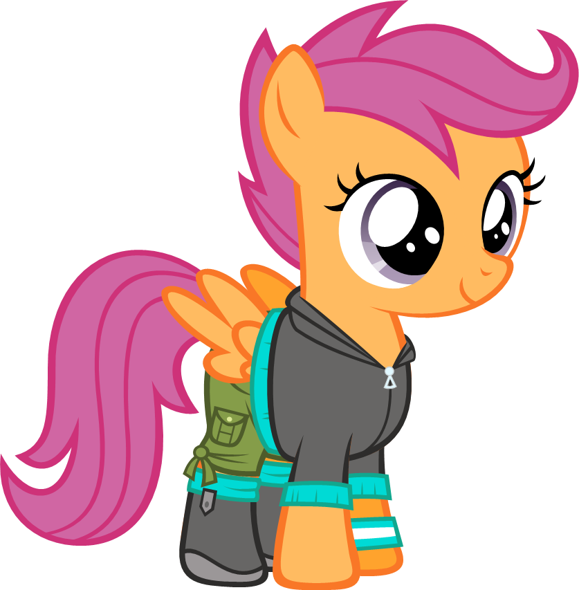Mlp fim scootaloo eqg. Windy clipart clothing