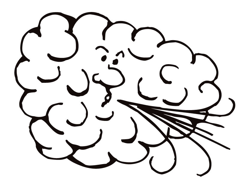 Windy clipart coloring page. Printable wind from freshcoloring