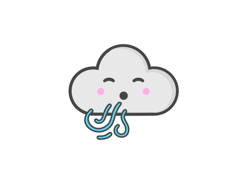 Windy clipart cute. Weather series by hayley