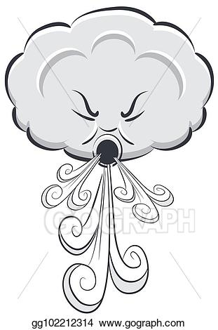 Vector art day cloud. Windy clipart drawing