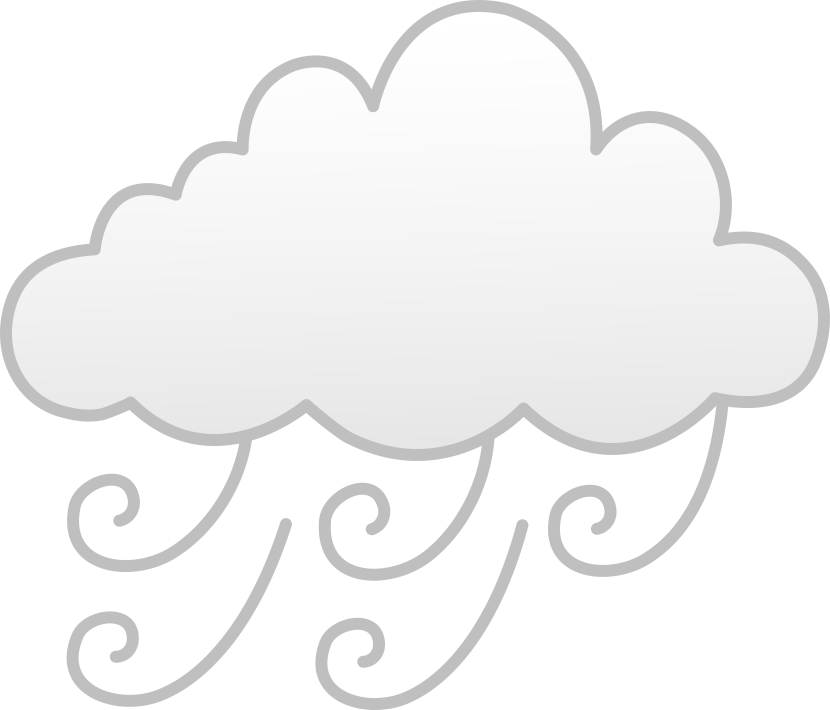 collection of png. Windy clipart fog cloud