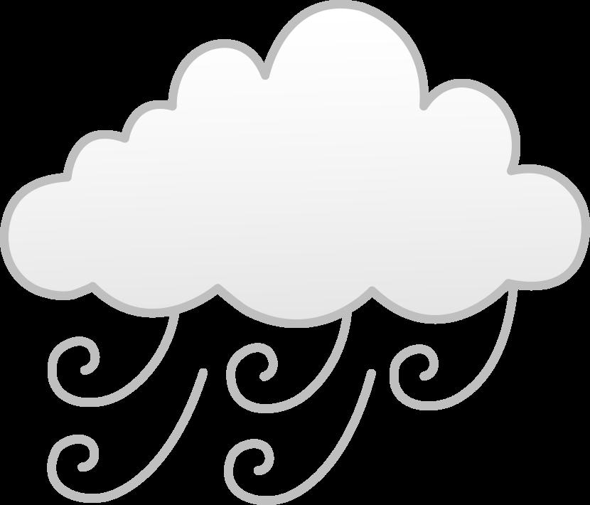 Windy fog cloud
