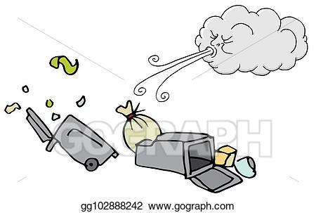Windy clipart gentle wind. Eps illustration day trash