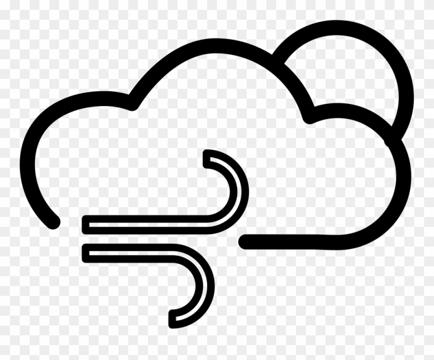 Cloudy day or night. Windy clipart gloomy weather