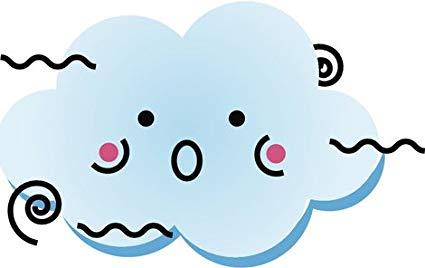 Windy clipart happy. Amazon com cute kawaii