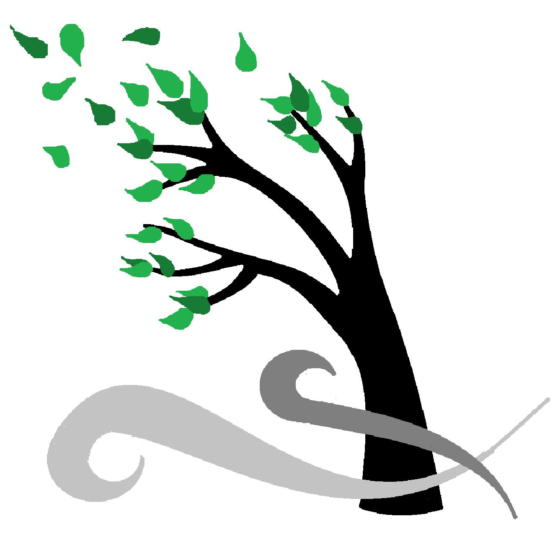 Storm tree clip art. Windy clipart hurricane wind