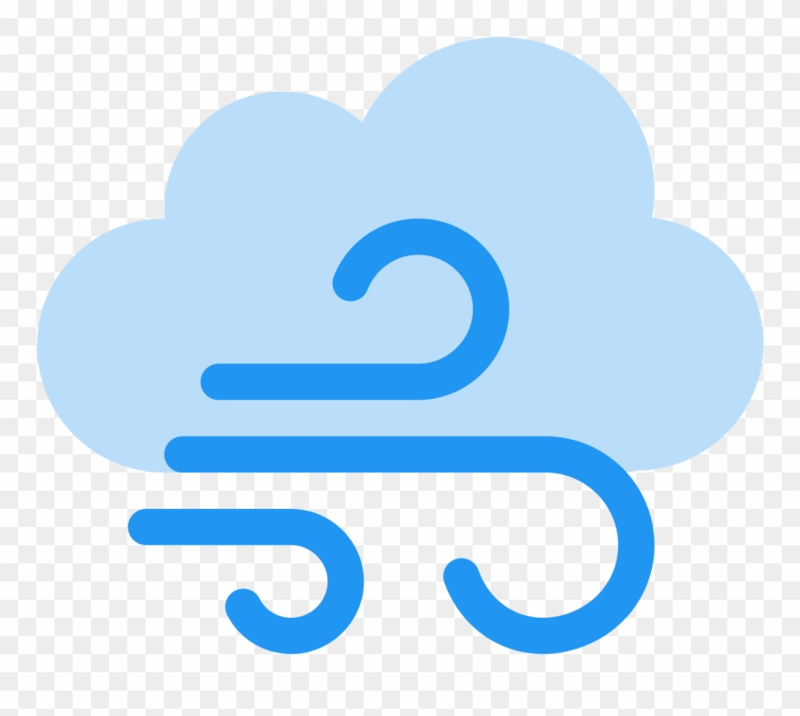 Windy clipart icon. Weather free download at