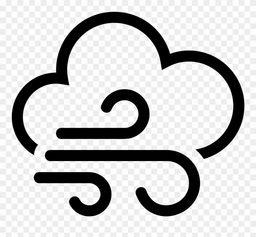 Weather wind symbols . Windy clipart icon