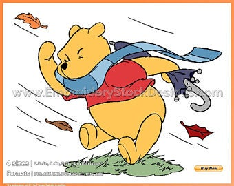 On a day etsy. Windy clipart pooh