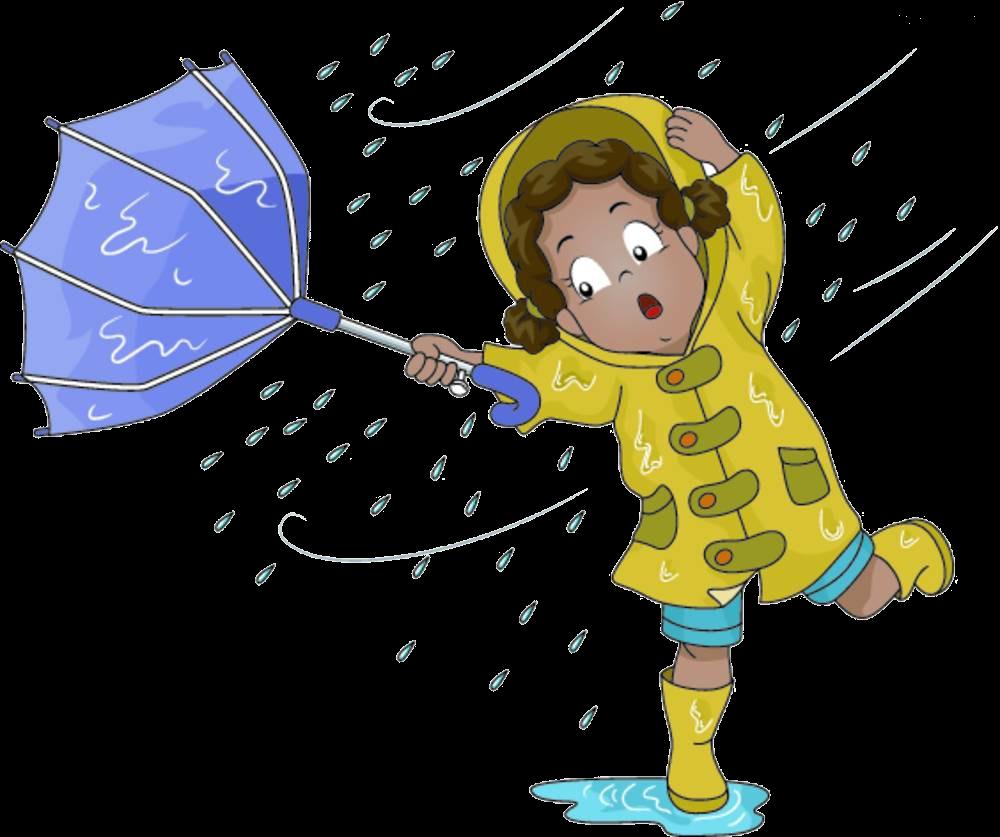 Rain images cartoon transparent. Windy clipart rainy