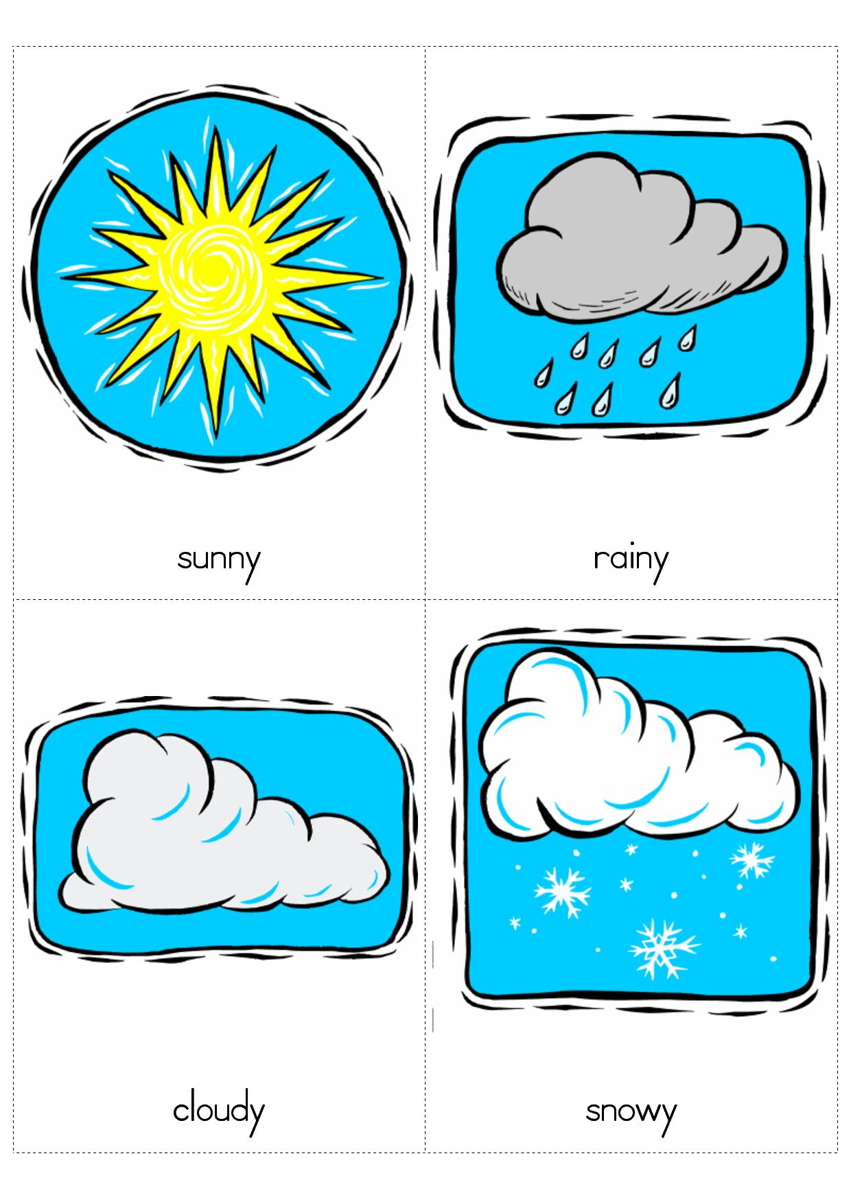 Windy clipart snowy weather. Sunny rainy cloudy preschool