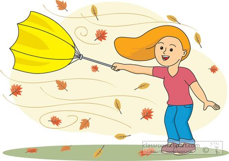 Umbrella weather ya yast. Windy clipart spring