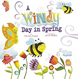 Windy clipart spring day. A in springtime weather