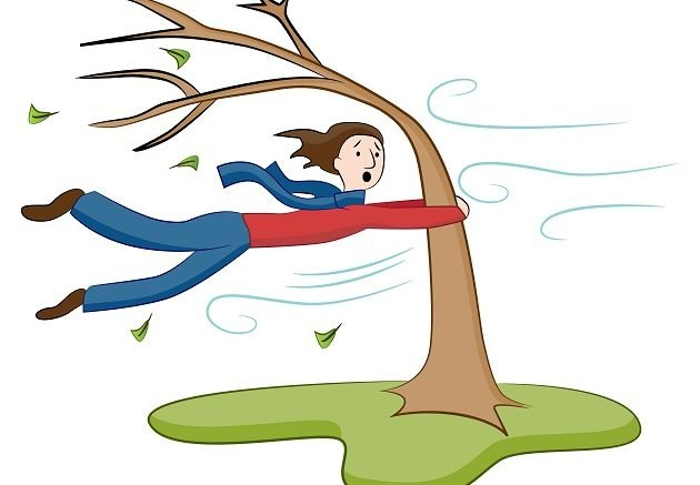 Windy clipart strong wind. Conditions to persist into