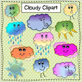 Clip Art: Weather Icons: Fog Grayscale Unlabeled I abcteach.com   abcteach