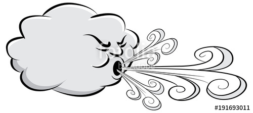 Day cloud blowing stock. Windy clipart wind speed