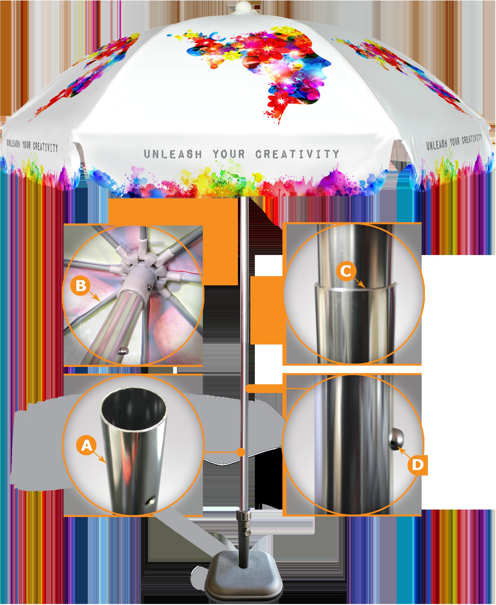 Custom printed commercial beach. Windy clipart windy umbrella