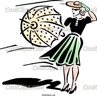 Windy clipart woman. On day panda free