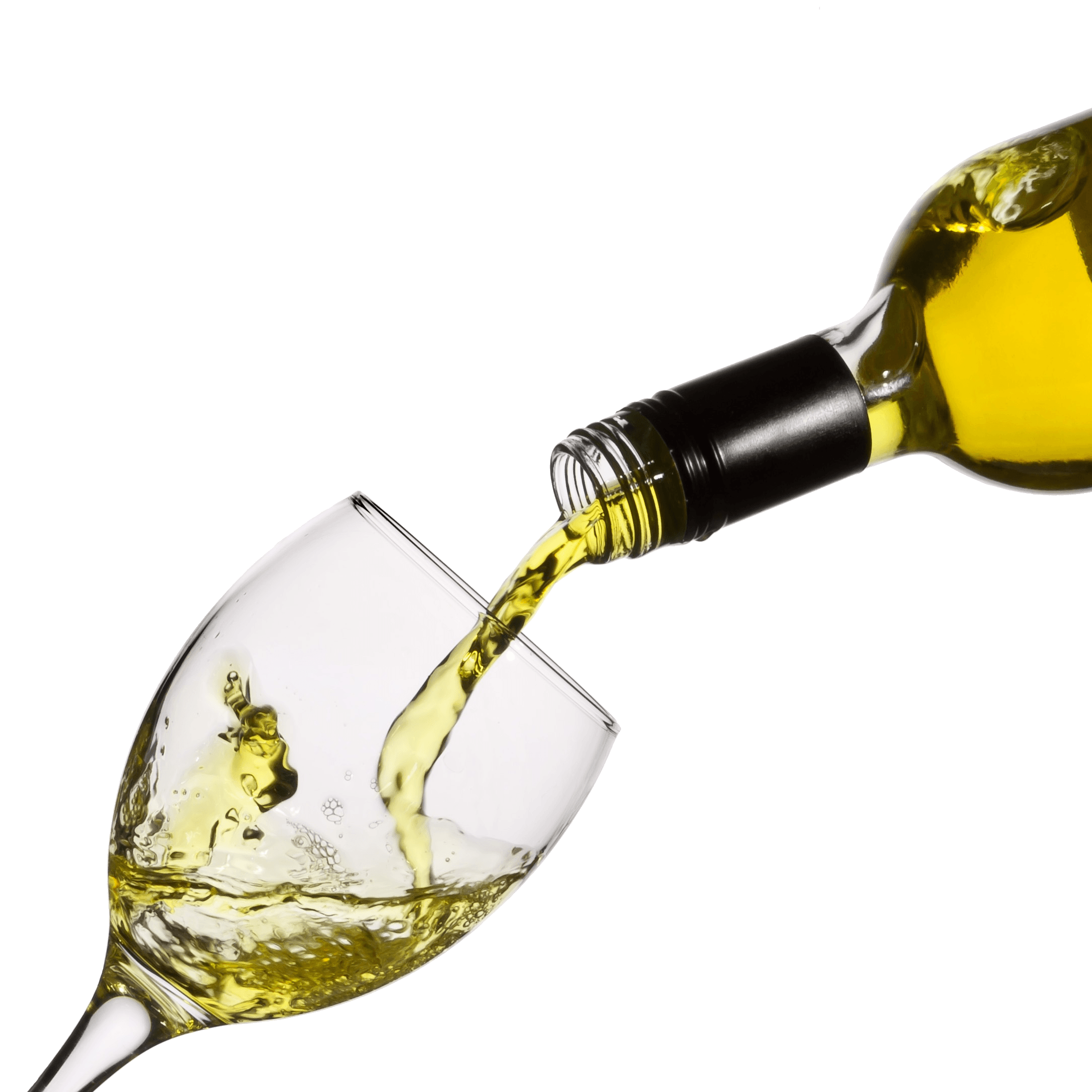 Wine bottle and glass png. Pouring white transparent stickpng