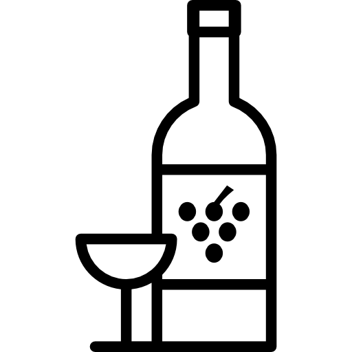 Grape with glass free. Wine bottle icon png