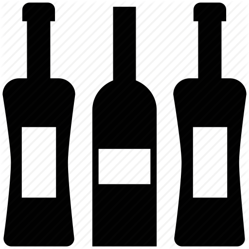 Wine bottle icon png. Shopping solid by vectors