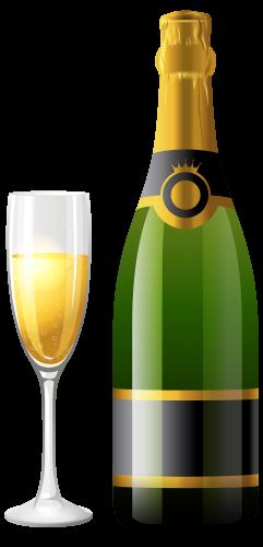 Botella de champagne con. Wine bottle silhouette png