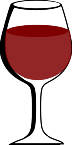 Wine clipart. Glass of red clip