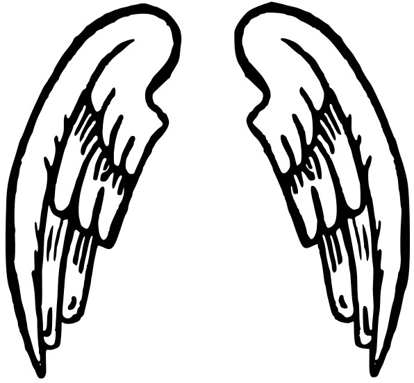 Wing clipart. Panda free images halo
