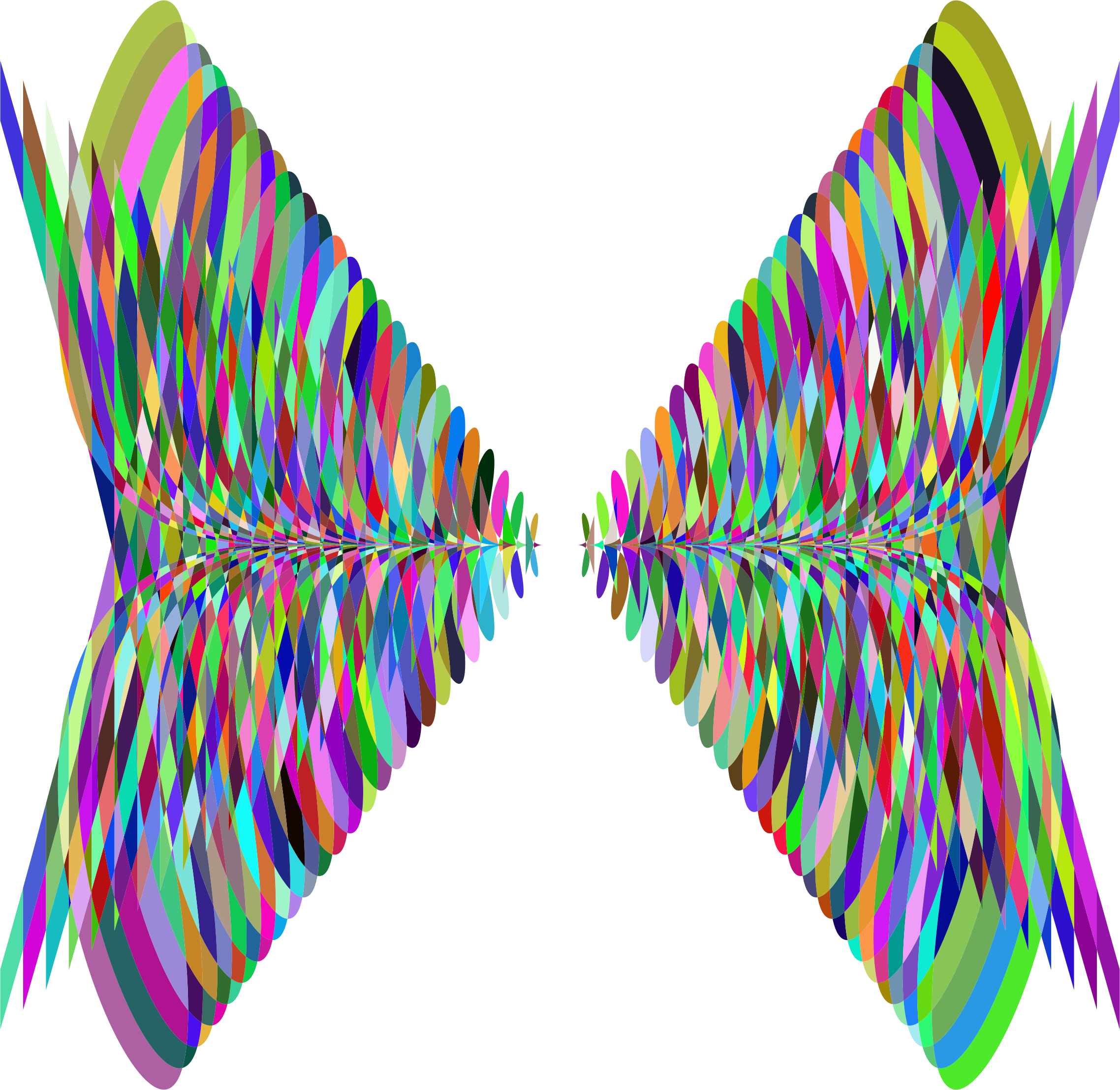 Wing clipart abstract. Prismatic butterfly wings big