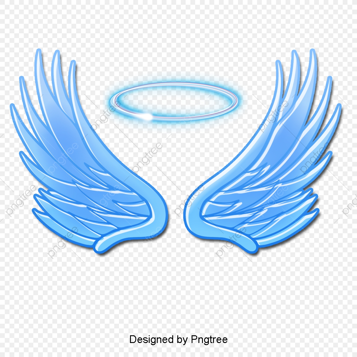 Wing clipart abstract. Gradient cartoon angel elements