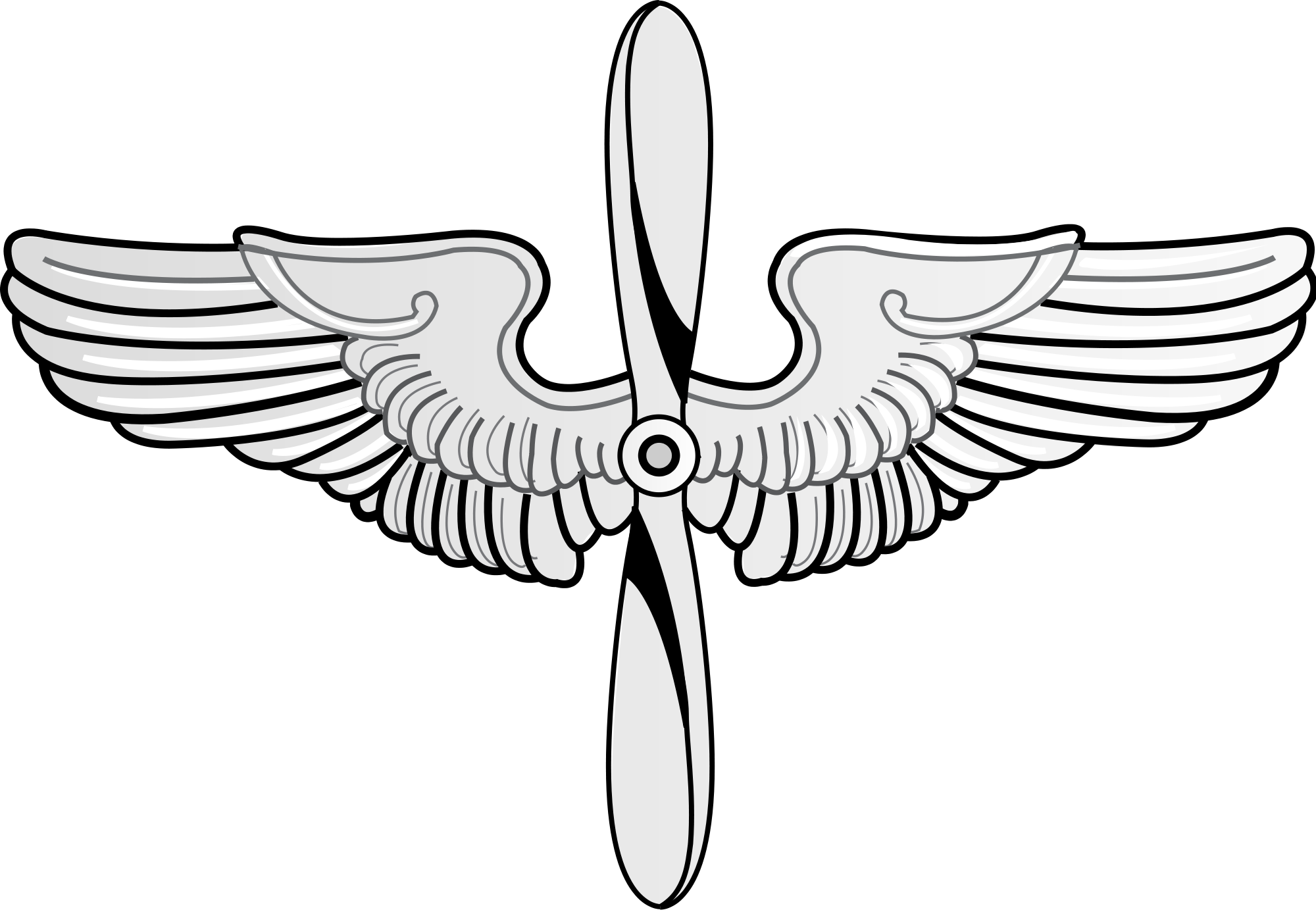 Wing clipart air force. File prop and wings