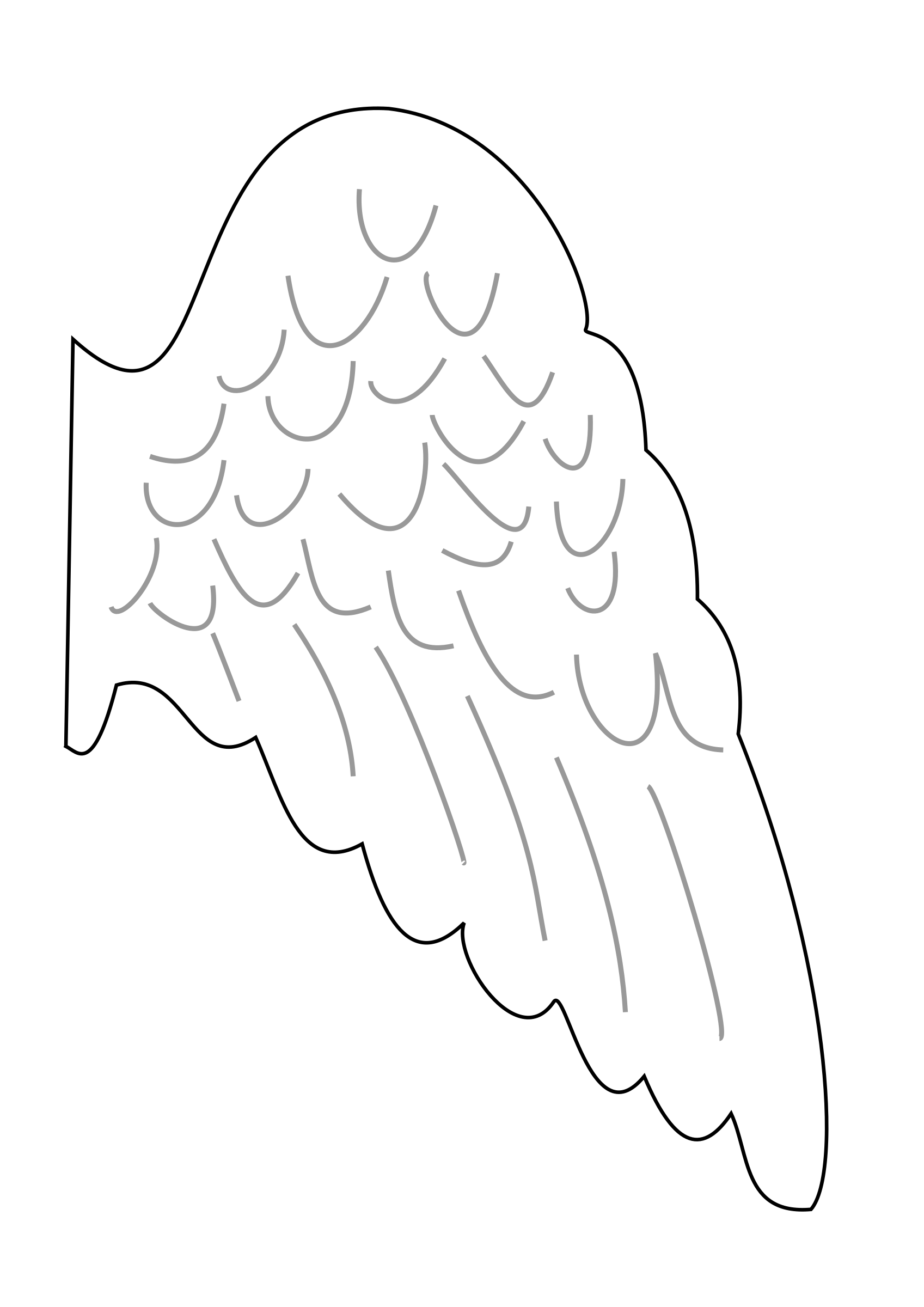 S big image png. Wing clipart angel wing