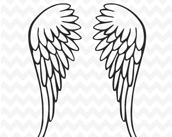 Wing clipart archangel. Drawing free download best