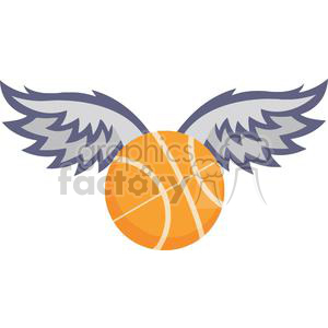 Wing clipart basketball. With wings royalty free