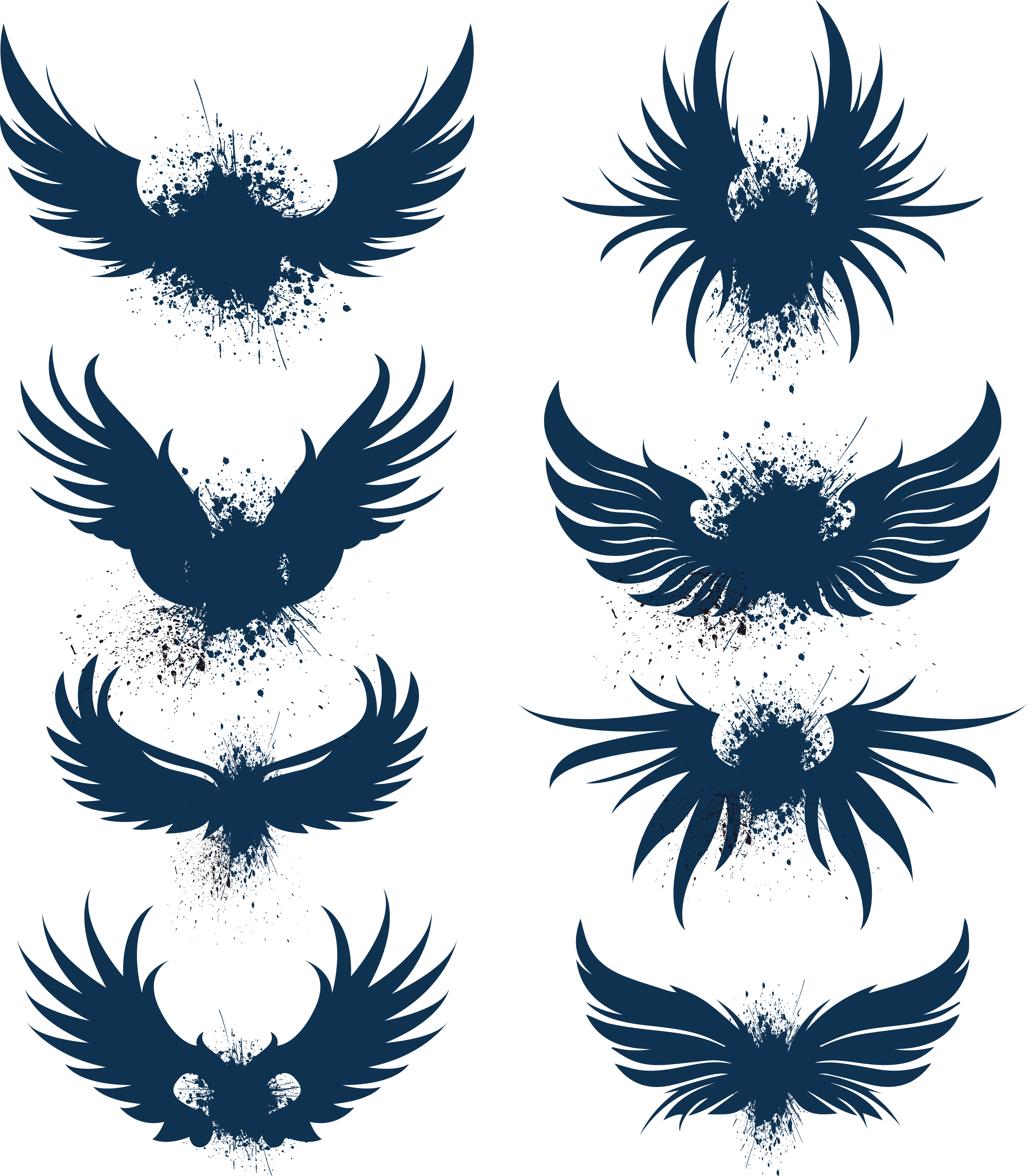 Wing clipart bird wing. Eagle logo blue wings