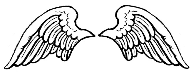 Wing clipart black and white. Free angel wings download