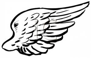 A angel panda free. Wing clipart black and white
