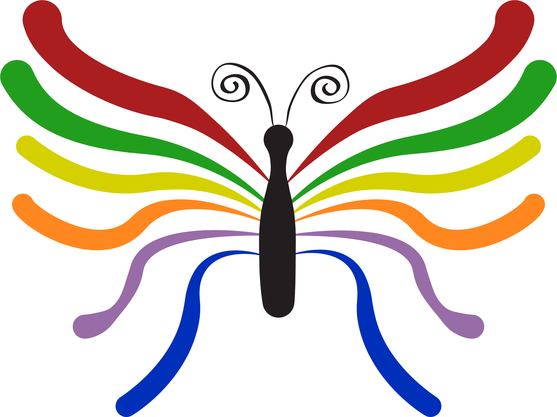 Colorful big image png. Wing clipart bug