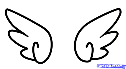 Wing clipart cartoon. Free angel wings download