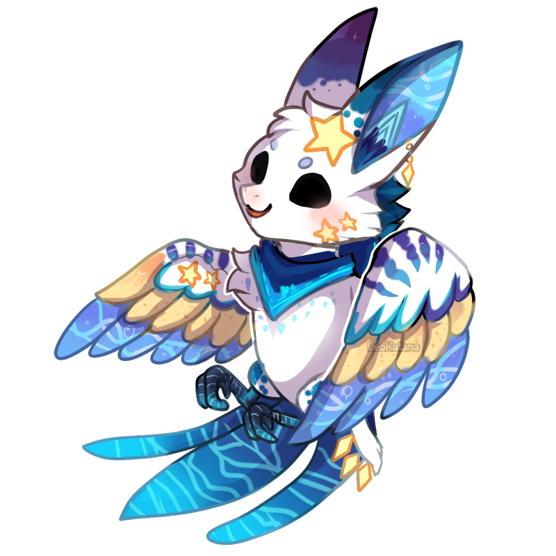 Wing clipart chibi. Commission saganstar doteyes by