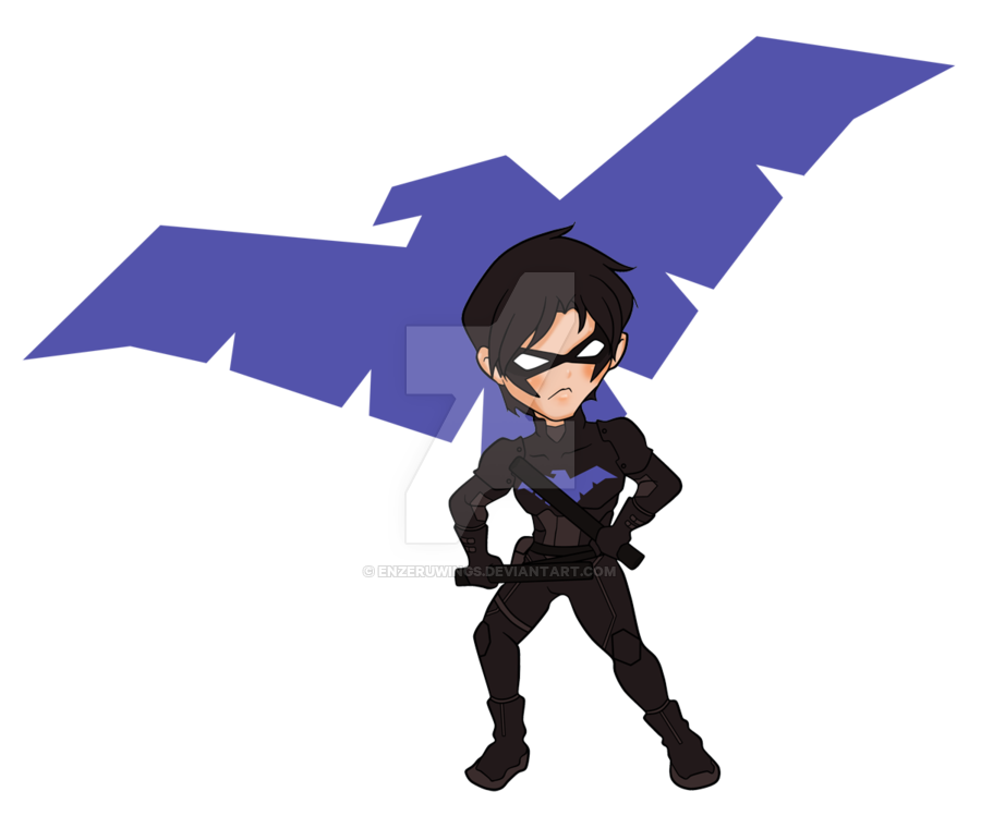 Wing clipart chibi. Nightwing by enzeruwings on