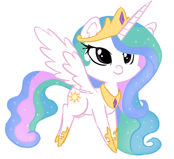 Wing clipart chibi. Celestia my little pony