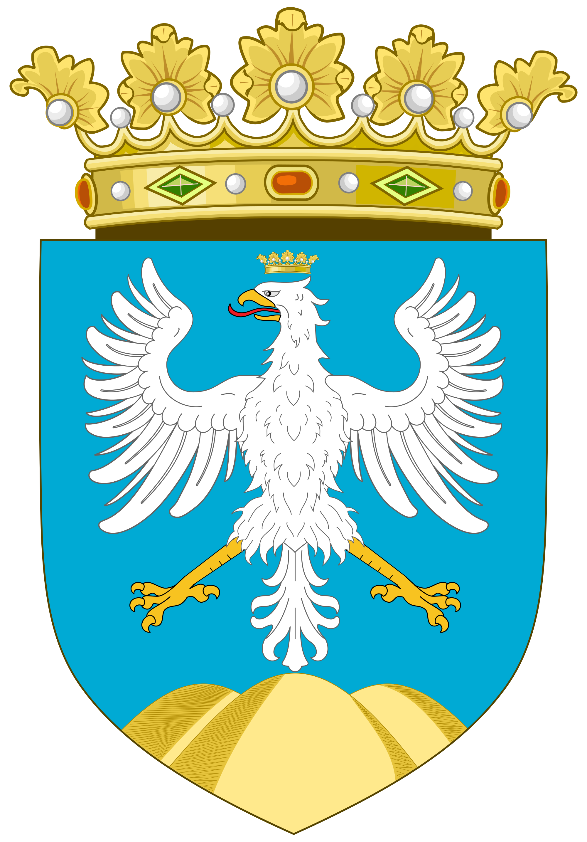 Wing clipart coat arm. File of arms abruzzo