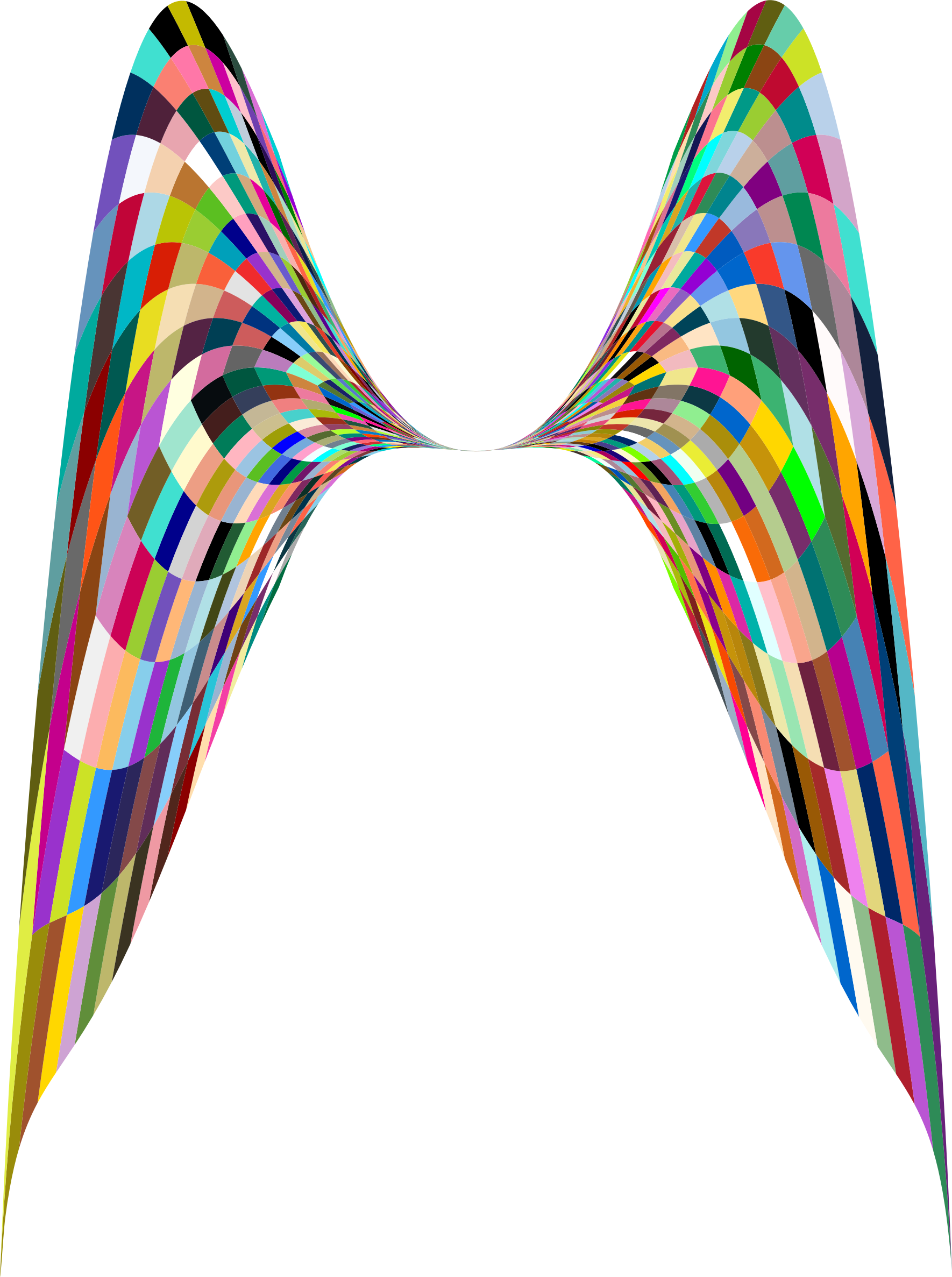 Geometric angel wings big. Wing clipart colorful
