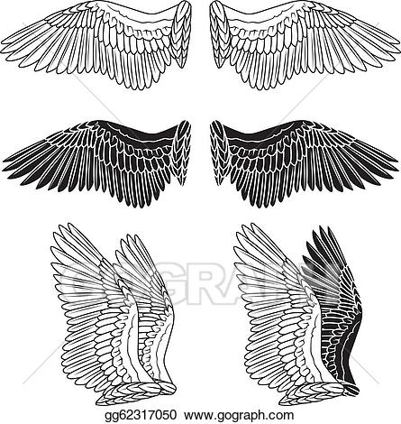 Eps vector wings stock. Wing clipart dove wing